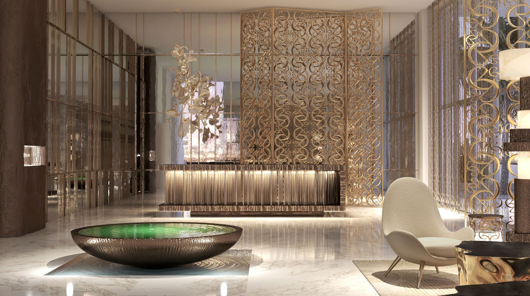 Elie Saab Grand Bleu Tower at Emaar Beachfront amenities
