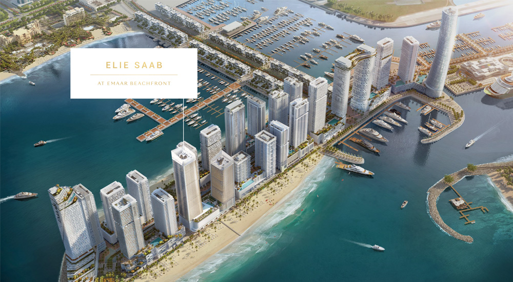 Elie Saab Grand Bleu Tower at Emaar Beachfront Master Plan